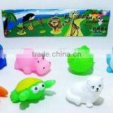rubber animal toy sea animals series animal series sets pvc bath toy for baby Good quality squirt baby bath toys