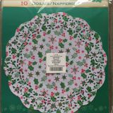 Round Colored Paper Doily for Christmas