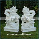 Outdoor Marble Dragon Statue for sale