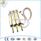 High voltage portable earth rod with copper earthing wire