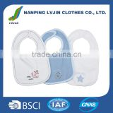 3 PCS Baby Bibs set Product Type and OEM Service Supply Type baby bandana bibs 100% cotton drool bibs