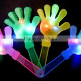 Cheap factory price palm-shape led flashing light football fan clappers for Concert and Parties