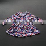 Girls boutique clothing fall 2017 baby clothes latest dress designs children cotton frocks kids casual back to school wear