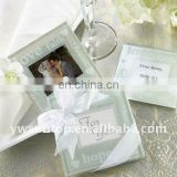 classical Bride and Groom glass photo coaster set decoration for wedding return gifts