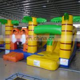 2017 New design Inflatable Tiger Jungle Jumper Bouncer Combo with Slide