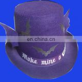 Hot selling purple felt top hat