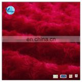 100 Polyester soft Polished PV Warp Knitted Plush Fabric 2015