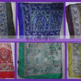 Indian Designer Silk Scarf Wraps Shawl Hijab Stoles Scarves Printed Recyclecd Soie Sari Fabric Summer India Fashion Scarf