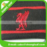 Black and red logo embroidered sweat band