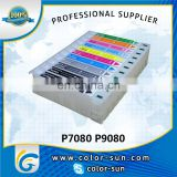 Colored compatible ink cartridge for Epson Sure Color P7080 P9080 printer
