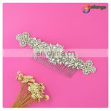 Silver color wedding hair comb wholesale