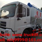 Factory sale dongfeng 10tons hydraulic discharging animal feed delivery truck for sale