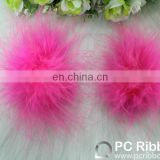 Fashion pink ostrich feathers flower