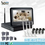 4CH Wireless WiFi IP Camera Security Recording System CCTV for Home Security Built-in 10 Inch