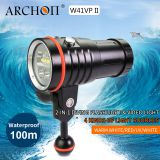 Archon W41VPII Multifunction Diving Video & Spot Light  Scuba Diving Flashlight  Led Diving Torch 4200 Lumens
