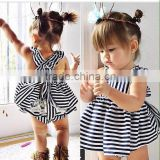 walson infants&todelers dresses 2-piece set suits stripe dress white lace dress