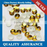 Bulk 1kg Loose 3mm Gold Heat Spangle Sequin Hot Fix, Sparkle Hotfix Sequins Loose for dress