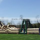 Large interactive military boot camp inflatable obstacle course for training adult inflatable obstacle course