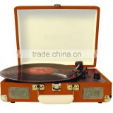 Buy vinyl player bluetooth recordable turntable player with lithium rechargeable battery