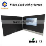 customized video card video greeting brochure with oem video mailer 2.4/2.8/4.3/5/7/10.1 inch
