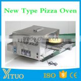 Automatic conveyor LPG gas pizza oven/ Stainless steel gas conveyor pizza oven