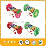 2016 wholesale musical instruments design for kid Fruit color xylophone