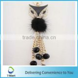 Small Fox with Beads KeyChain Pendant for High-Heel, bags, clothings, belts and all decoration