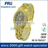 fashion wristband watches watch premium gift quartz watch yellow water resistant (T8027)