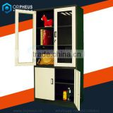 Power Coat Outdoor Patio Furniture Cover Glass Steel Combination Swing Door Stainless Metal Filing Cabinet