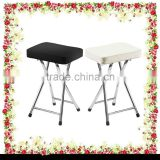 Chrome frame padded faux leather seat folding foldable kitchen chair bar stool