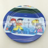 high quality round shape tin tray,metal tin tray,fruit tin tray