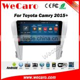 Wecaro WC-TC1085 10.2 inch android 4.4/5.1 car gps navigation system for toyota 2015 camry With Wifi 3G GPS Radio RDS
