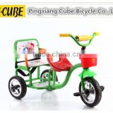 manufacture of child tricycle, kid tricycle with two seats