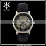 Wholesale Skeleton Mechanical Automatic Wristatches Men Watch With clearance dial and caseback