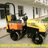 hydraulic vibratory mini compactor,ride-on double drum road roller,Japan engine and bearing 20HP,NSK bearing