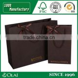 Superior Coffee Garment Paper Bag with a Bow