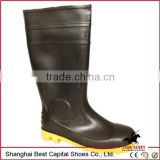 working pvc rain shoes boots\hot sale \ waterproof composte toe boot\Men's 8-Inch Steel Toe Work Boot