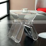 Custom Acrylic Book Shelf Book Stand Acrylic Coffee Table Modern Furniture