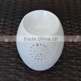 White Porcelain Ceramic Candle Oil Burner