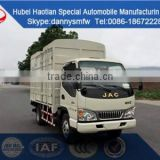 JAC Van truck type sewage suction truck with vacuum pump for sucking waste dredge
