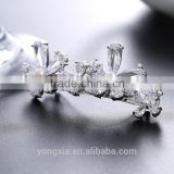 Antique Crystal Bridal Wedding Flower Crystal Rhinestone Diamante Hair Clip