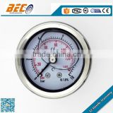 China origin YBF series all 316 stainless steel propane gas gauge for pressure measuring