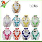JQ043 colorful beaded pearl necklace Jewelry Sets for wedding party, fashion African Jewelry Set