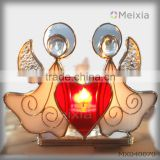 MX040070 soldered tiffany style stained glass angel candle holder for christmas gift wholesale