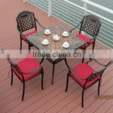 wrought iron garden dining table chair furniture set