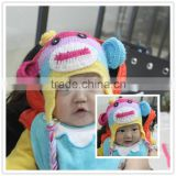kids clothing stock baby owl crochet hats for baby infant clothing