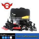 Family Kit 36 in 1 accessories for Gopro Go Pro accessories set Outdoor equipment for surfing selfie car mount tripod
