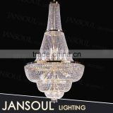 shinning french empire crystal chandelier extra large pendant light from zhongshan lighting supplier