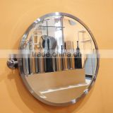 polished modern style bathroom frame round wall mounted swivel wall mirror