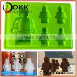 DKK-B018 Silicon Cake Moulds Building Bricks Lego Robot Silicone Chocolate Mold Ice Cube Tray
